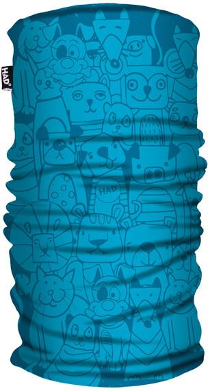 HAD Printed Fleece  Halsbedekking Kinderen blauw/turquoise
